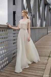 Aramex off shoulder lace two piece wedding dress 2015 ...