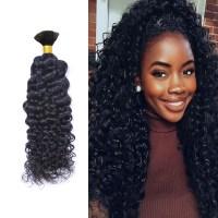 Mongolian Afro Kinky Curly Human Braiding Hair Bulk ...
