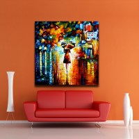 Modern Abstract Oil Painting Umbrella Girl Canvas Painting ...