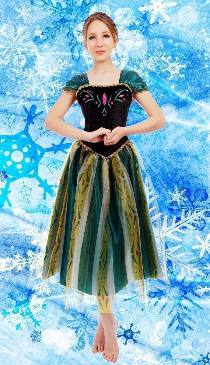 Elsa & Anna Geburtstags Mode Eis Schnee Königin Party Kostüm Cosplay ...