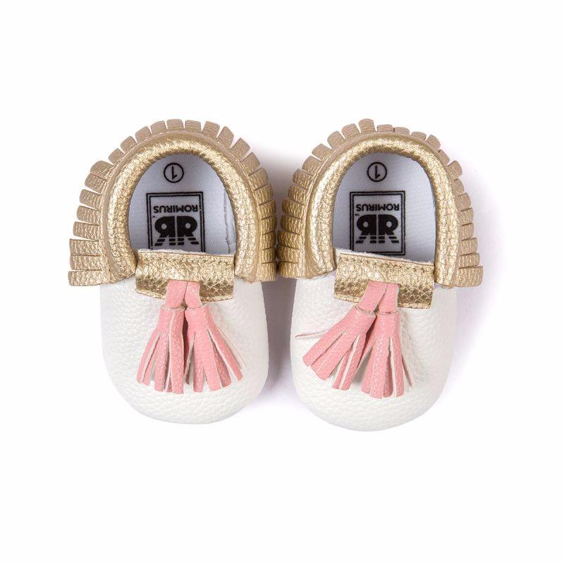 ⓪Infant Baby Shoes Boys Girls Soft PU Leather Tassel Moccasins ... 5957727546f8