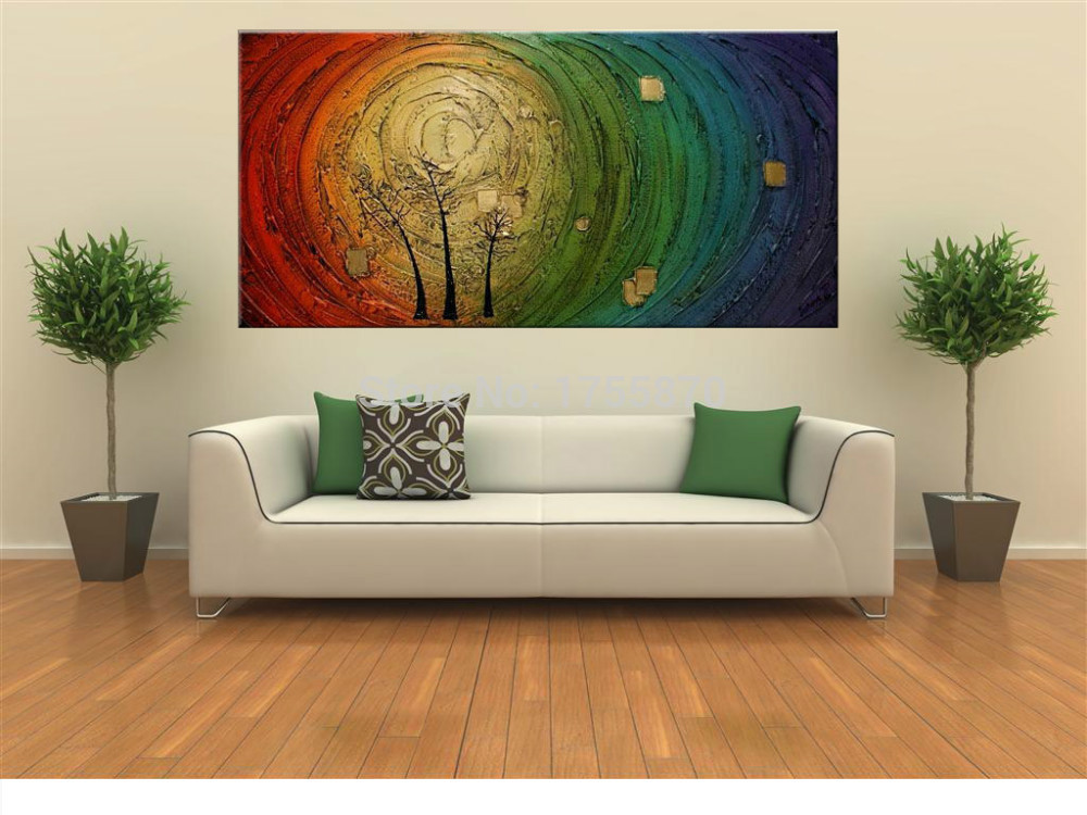 2016 NEW100% Hand Painted Wall Art Contemporary Tree Oil