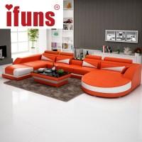 IFUNS modern luxury u shaped design sofa set ,genuine ...