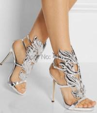 NEW 2015 Gladiator Heels Silver Leaf Women Sandals High ...
