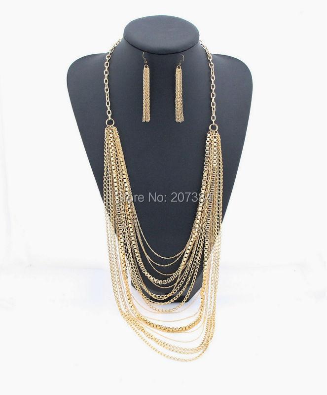 bijoux col chaîne de bib queue de sirène double couche collier pierre collier