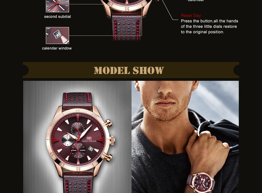 c031bae250f8 NºMinifocus lujo negocios reloj de cuarzo hombres relojes 2018 Top ...