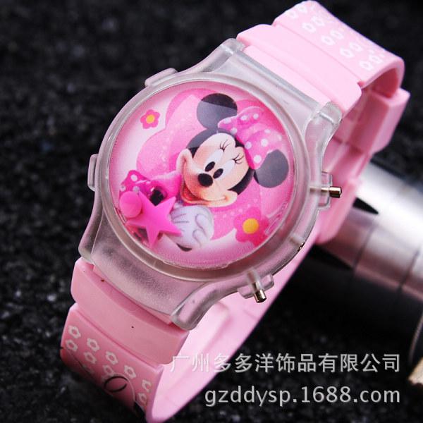 3c3c9933831 2015 new fashion boys girls silicone digital watch for kids mickey minnie cartoon  watch for children christmas gift clock Watch