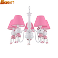HGhomeart Modern cartoon energy saving cartoon chandelier children room lights girl princess bedroom lights