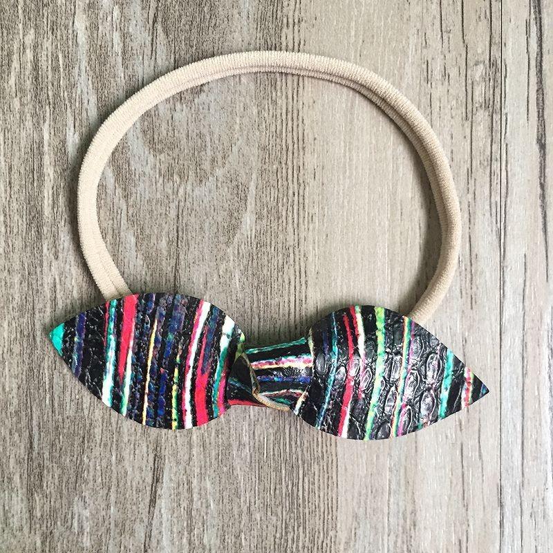 っ3 unids set 3 color Arco Iris hecho a mano cuero conejo grande del ... fdac81ca1ff5