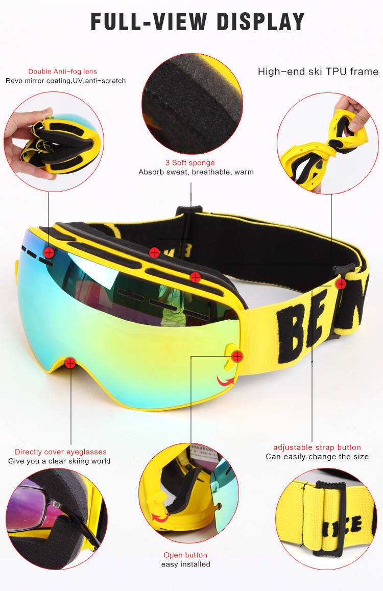 Benice per New staccabili Design di anni bambini di da design da Occhiali 15 sci xg6Pwt