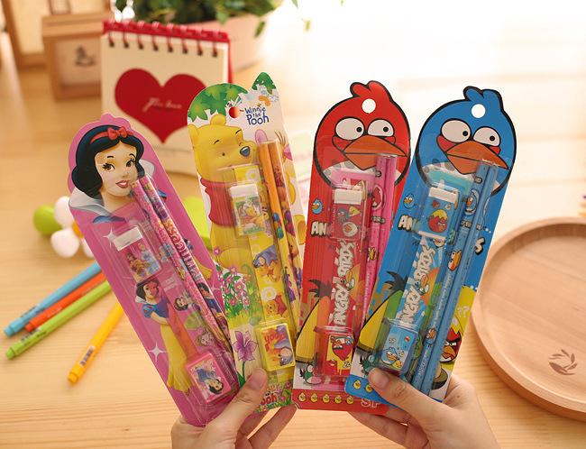 2619700924_1758922470  10packs/lot 5 in One Disny Mickey Snowwhite Kitty Pencil Writing Pen Stationery Kits Children Birthday Occasion Favor Take-home Items HTB1kDOMNpXXXXc6aXXXq6xXFXXX4