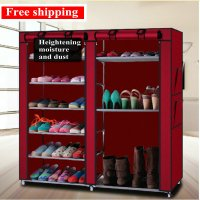 Creative simple shoe cabinet dust proof multilayer shoe