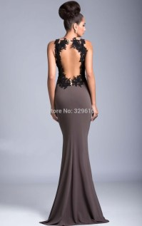 Backless Long Evening Dresses - Plus Size Prom Dresses