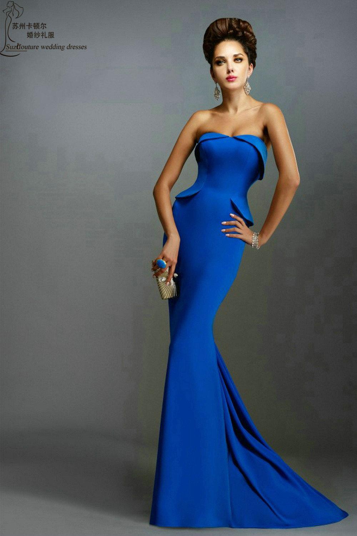 Royal blue prom dress PM1167 elegant long mermaid prom