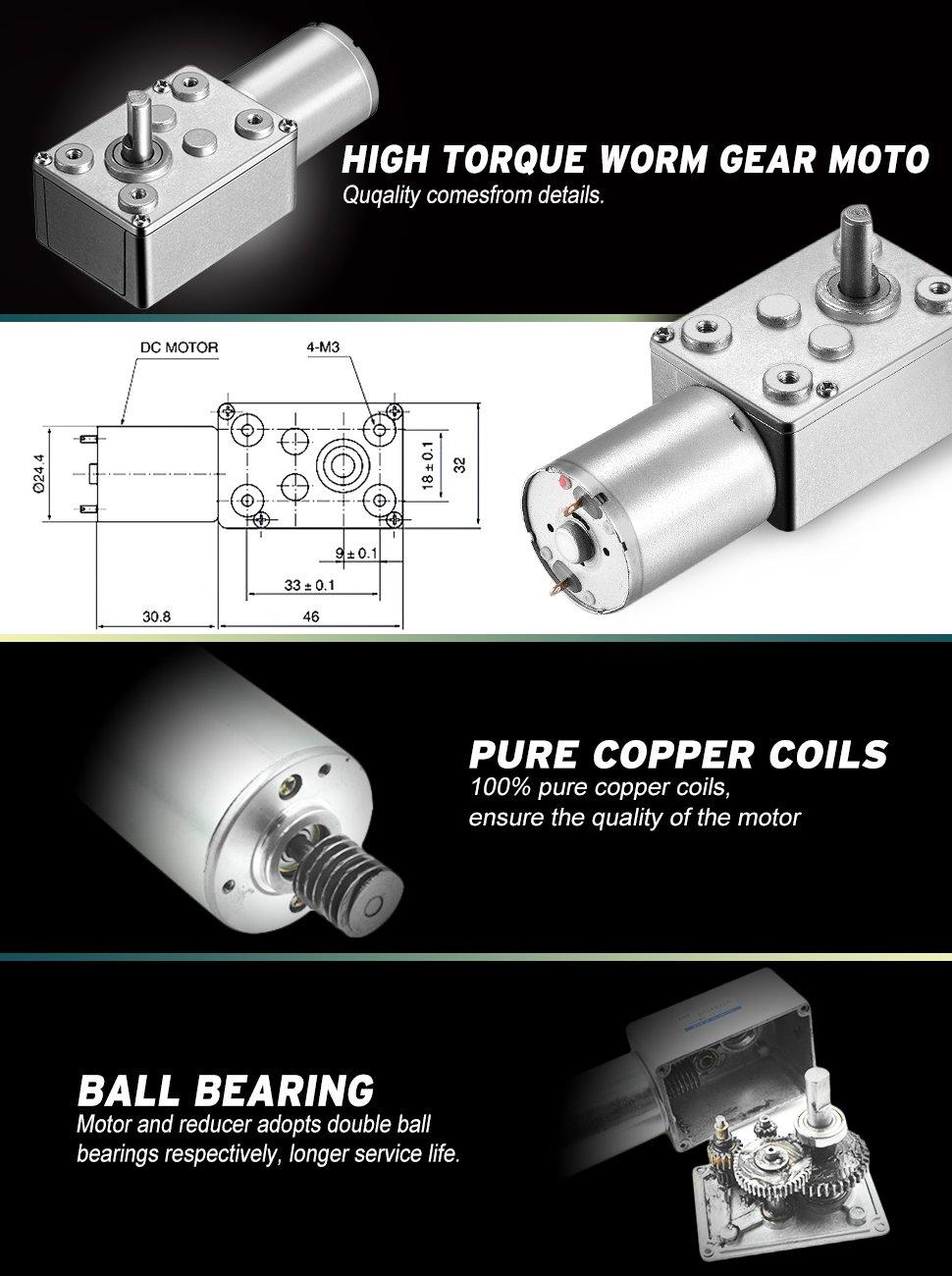 ღ Ƹ̵̡Ӝ̵̨̄Ʒ ღ12 V 25 RPM metal eléctrico reversible engranaje Motor ...