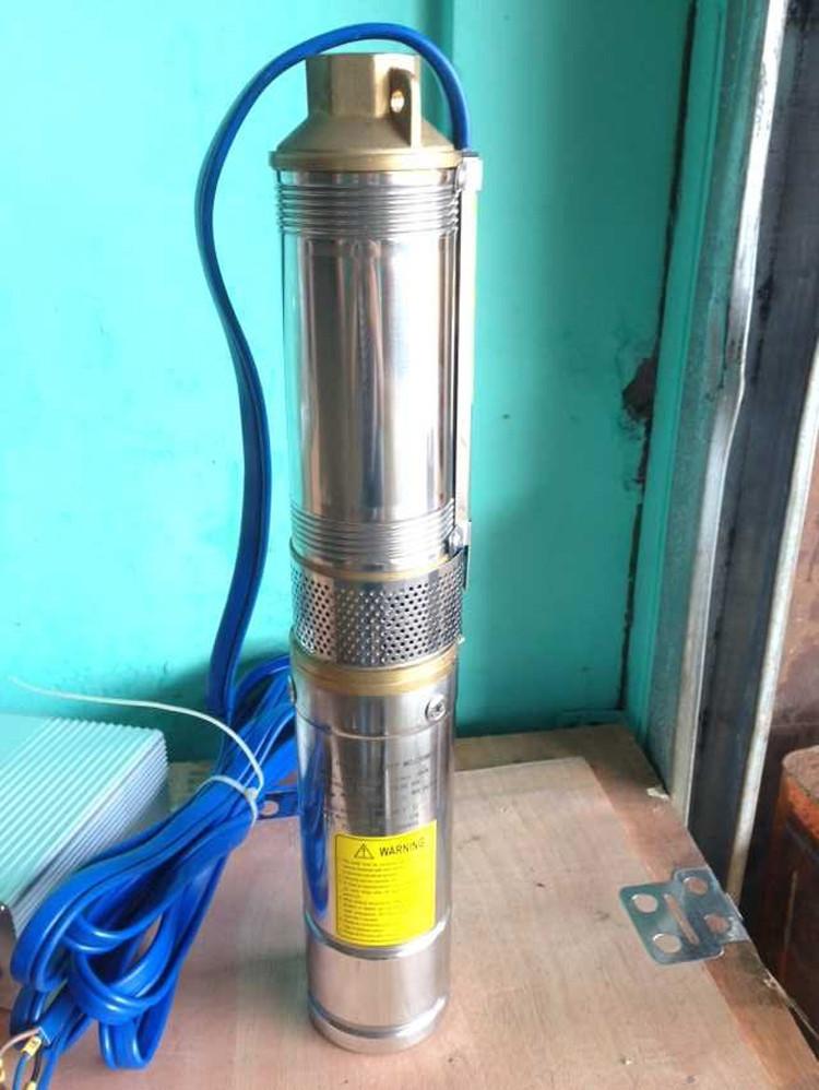 """Solaire utiliserons pompe 4/"""" en Acier Inoxydable Plastique 12 V 24 V PV Pompe à eau Pompe immergée pour"""