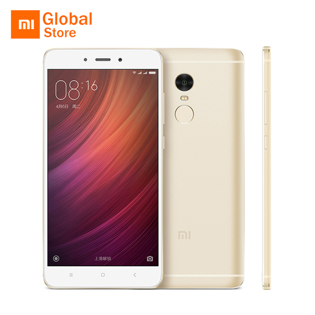 "Original Xiaomi Redmi Note 4 3GB RAM 32GB ROM Mobile Phone MTK Helio X20 Deca Core 5.5"" FHD 4100mAh Fingerprint ID 13MP Camera"