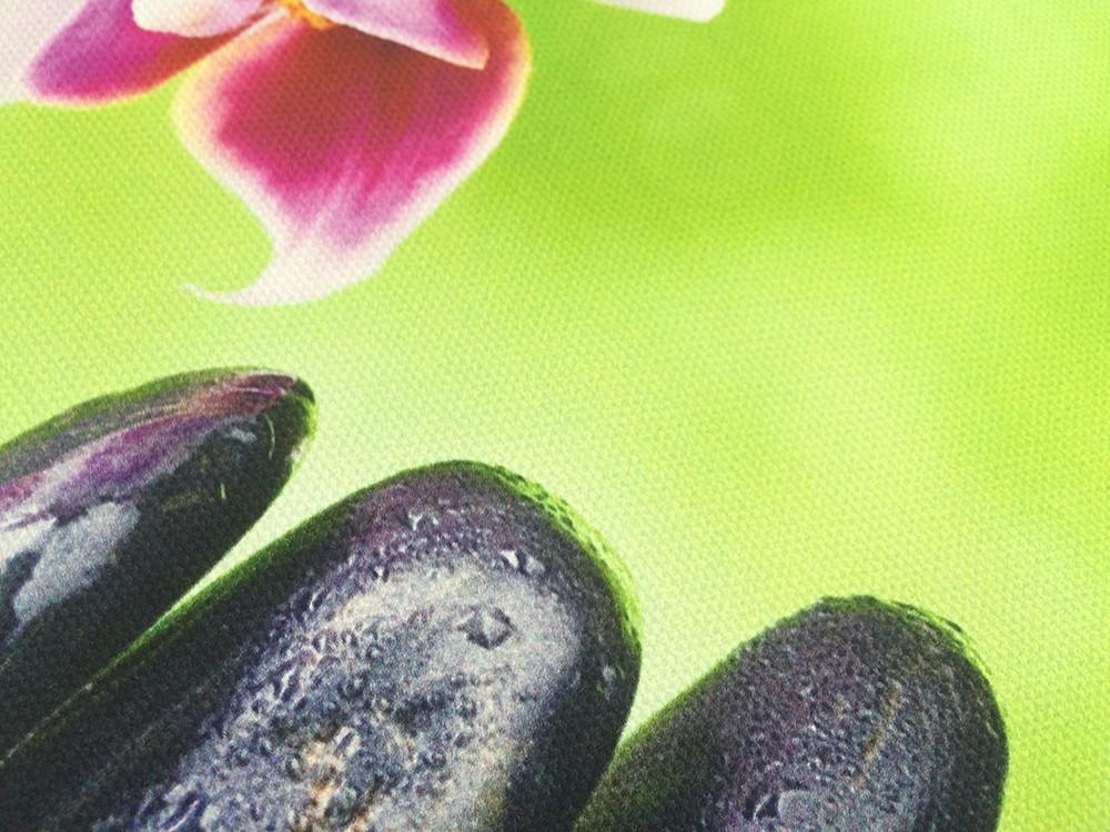 っArte pared decoración lienzo pintura orquídea flor bambú piedra 3 ...