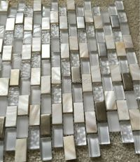 Buy mother pearl mosaic tiles frosted crystal glass tile ...