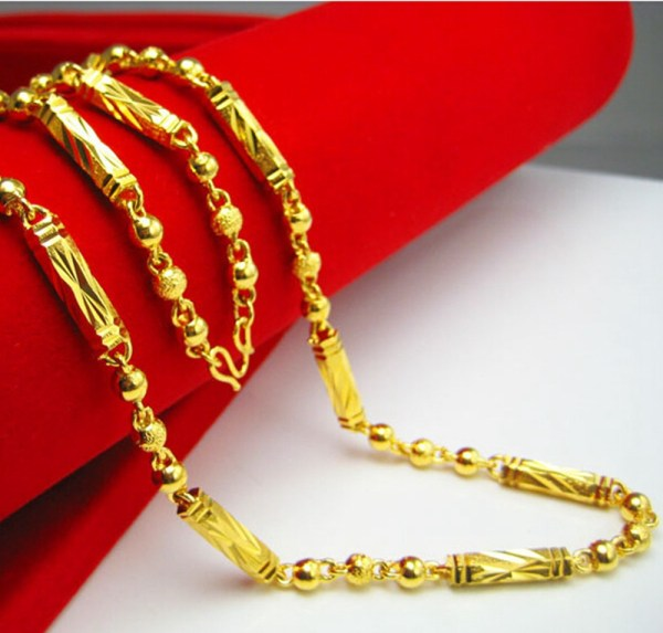 Solid 24k Yellow Gold Filled Mens