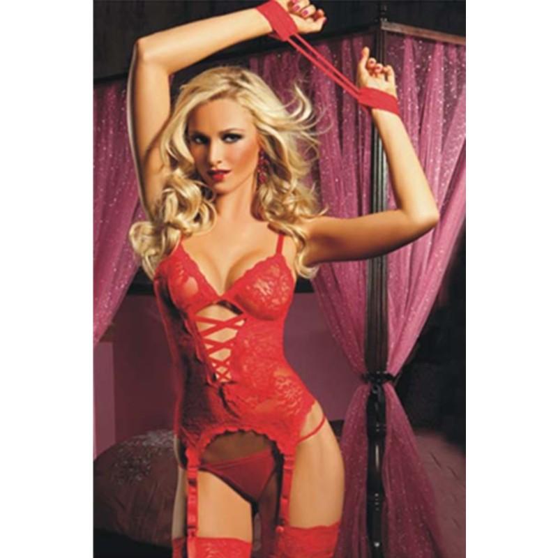 a81ae8d8c ... Hot Selling Temptation Erotic Sexy Lingerie Women Babydoll Chemise  Corsets Lace Transparent Underwear Set L4160 L4160