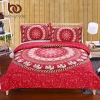 BeddingOutlet Red Mandala Bedding Set Home Elephant ...