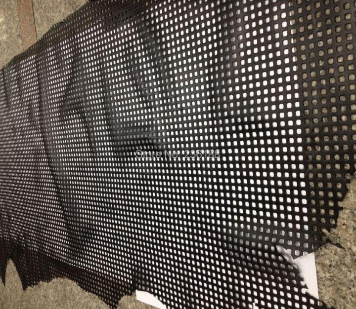 Black Square Perforated Genuine Skin Leather Fabric for Shoes /Handbag/Purse Accessory ,Free Shipping HTB1nuiWHFXXXXczXFXXq6xXFXXXl