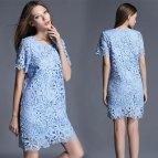 Light Blue Lace Plus Size Dresses