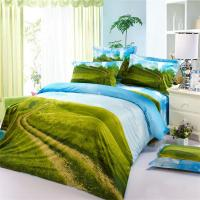 Country Style Green Fields Blue Sky 3D Bedding Set Queen ...