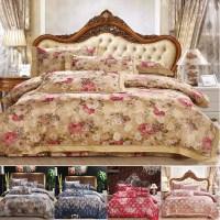 Luxury bedding sets,Satin silk/cotton king size bedding ...