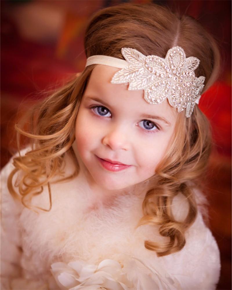 ᗖBebé boda diadema venda del pelo nupcial Accesorios de pelo chica ...