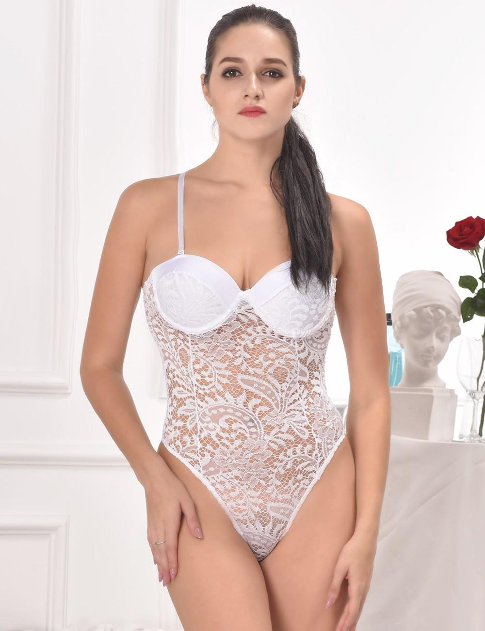 56de20447e9 Comeonlover Sexy Lingerie Hot Push-up Cup Lace Body Sexy Bodysuit Women  Lingerie Plus Size RT80285 Transparent Lace Body Teddy