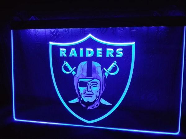 La143 Oakland Raiders Football Bar Beer Led Neon Light