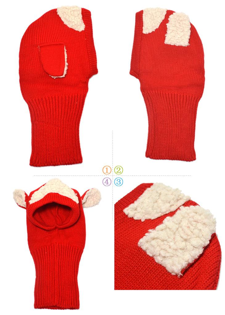 ✅2017 invierno Bebé sombrero y bufanda diseño del perrito con ...
