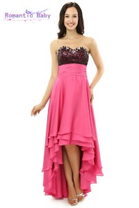 2015 New Pink High Low Evening Dresses Prom Dress Evening ...