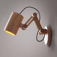 Oak Modern wooden Wall Lamp Lights For Bedroom Home ...