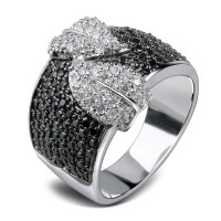 Rings for best friend White gold plated Cubic zirconia ...