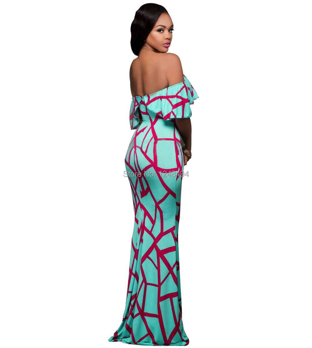 764e7c872f6 √Наиболее популярные Slash шеи Женская летняя обувь платье оборками ...