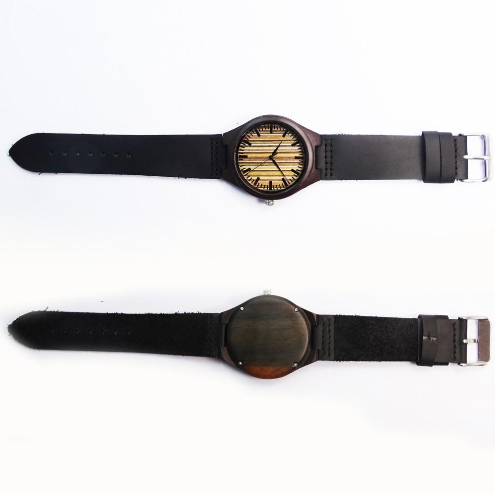Venta caliente japonés miyota movimiento simple wristwatche Cuero auténtico bambú  relojes para hombres y mujeres pulsera 6e0248c392df