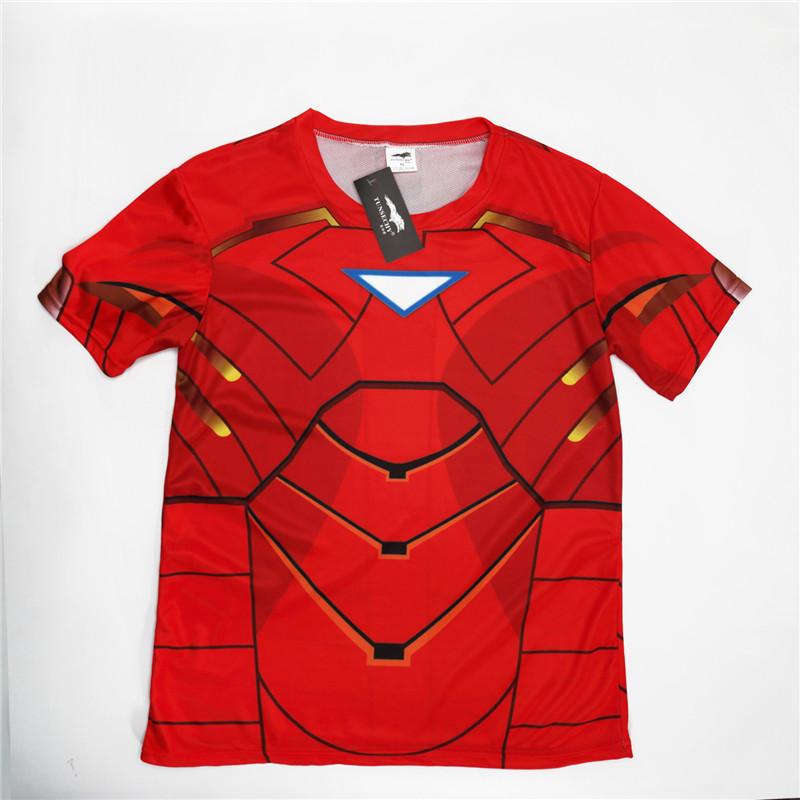 New 2018 Batman Spiderman Ironman Superman Captain America Winter soldier Marvel T shirt Avengers Costume Comics Superhero mens