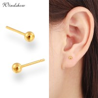 7 Size Balls Yellow Real Gold Plated Piercing Small Round