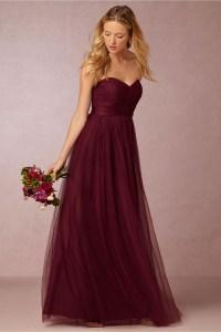 Elegant Backless Burgundy Bridesmaid Dresses Long 2016 ...