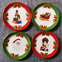 Christmas Holiday Decoration Plate Dessert Party Special ...