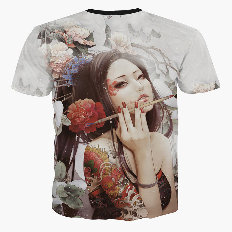 a9abfcc7372d ᗑ 3d Mens Short T Shirts Comics Girls Short Sleeved Walk Print T ...