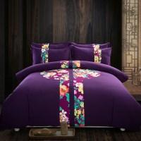 Online Buy Wholesale dark purple comforter from China dark ...