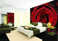 Size can be customized Mural wallpaper red rose bedroom ...