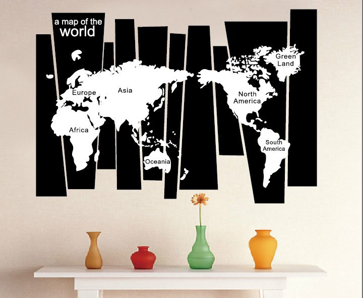 Tree trunk wall decal sticker seven continents world map wall tattoo tree trunk wall decal sticker seven continents world map wall tattoo poster wallpaper decor graphic art wall applique gumiabroncs Image collections