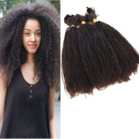 Grade 7A Afro Kinky Curly Brazilian Virgin Hair Human