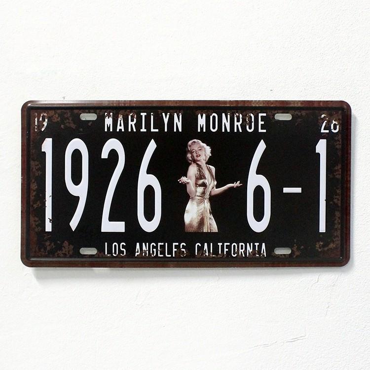 №1926 6-1 Marilyn Monroe pared decoración vintage metal Marcos de ...