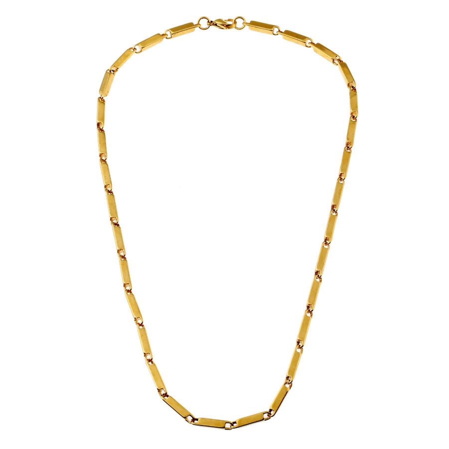 0ec5c5f27b6e ⑤Ancho 4mm alta calidad mens collar de acero inoxidable collares ...